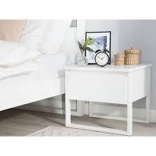 nachttisch weiß kiefernholz 43 x 50 x 41 cm modern pratkisch schlafzimmer