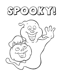 Spooky Ghost Halloween Coloring Pages Printable