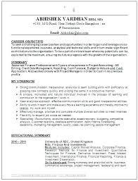 Finance Internship Objective Resume For Personal I Mba Career