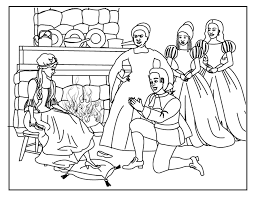 Cinderella And Prince Charming Coloring Pages Night For Romance Pic