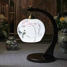 bemalte porzellan tischleuchte chinesische retro