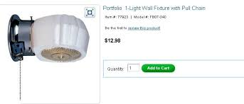 pull chain wall light lighting and ceiling fans