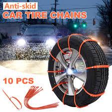 100 Truck Snow Tires 10PCS Car Antislip Tire Chains Adjustable AntiSkid Car