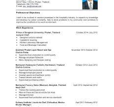 Culinary Student Resume Objective Professional Templates U2022 Rh Gogradresumes Com Internship Job
