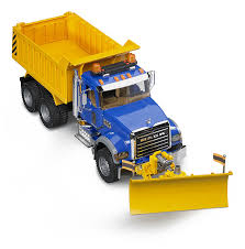 Amazon.com: Bruder MACK Granite Dump Truck With Snow Plow Blade ...