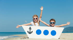 Coloriage Vacances Mer Plage