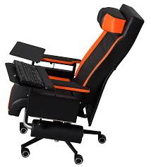 Description Side View Of The GosuChairs With Backrest Folded Back