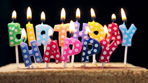 lighted candles on a birthday cake Timelapse HD stock video clip