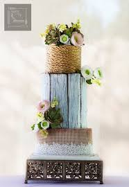 4 Weathered Wood Cakes For A Rustic Wedding