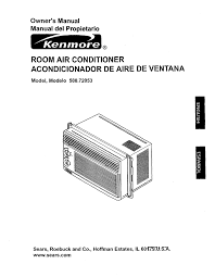 Sink Gurgles When Ac Is Turned On by Kenmore 580 72053 Air Conditioner User Manual