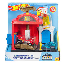 100 Hot Wheels Truck Downtown Fire Station Spinout And Fire FMY95