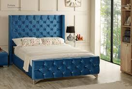 Velvet Super King Headboard by Ottoman Beds Fabric Beds Mattresses Double Single U0026 King E