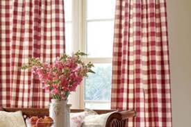 village catalog handmade country curtains red plaid curtains