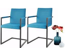 freischwinger stühle serena aus stoff in petrol im 2er set