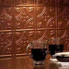 Copper Tiles For Backsplash by Backsplash Copper Finest Aspect Metal In X In Copper Metal
