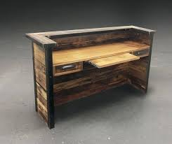 desk reclaimed wood end table diy reclaimed wood console table
