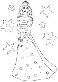 Barbie Doll The Princess Charm School Coloring Page