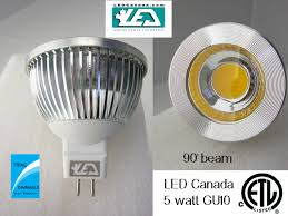 led canada releases 5 watt cob led bulbs and halogen replacements