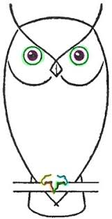 Hand Drawn Doodle Night Owl Cute Owlet On A Digital Watercolor
