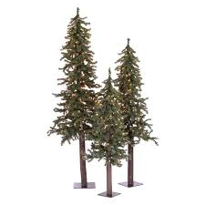 Vickerman Natural Triple Alpine Pre Lit Christmas Tree Se