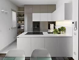 moderne küche in u form grau und weiß backofen im