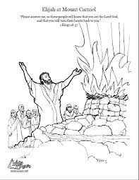 Elijah On Mount Carmel Coloring Page Script And Bible Story