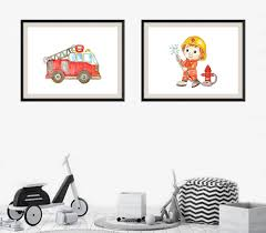 Fire Truck Wall Art Baby Boy Nursery Fire Truck Print Fire | Etsy