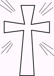 Sparkling Light Cross Coloring Page