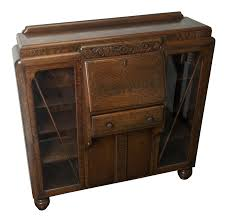 Drop Front Secretary Desk Antique by Antique Drop Front Side By Side Secretary Desk Entryway Accent