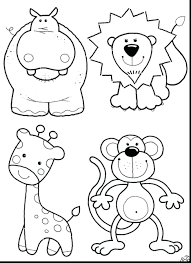 Animal Coloring Pages Zoo Animals Sheet For Preschoolers Worksheets Printable Large Size