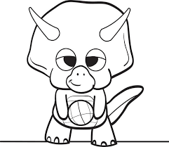 Online Cartoon Dinosaur Coloring Pages 93 In Print With
