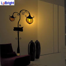 decoration light hallowmas pumpkin l wall sticker