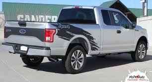 100 Truck Bed Decals TORN Ford F150 Side 4X4 Mudslinger Ripped Style