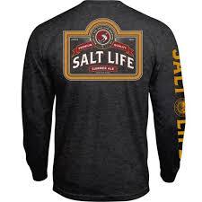 salt life mens sl brew co ls charcoal heather 2xl walmart com