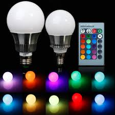 e27 e14 rgb 5w 10w ac85 265v led bulb l with remote