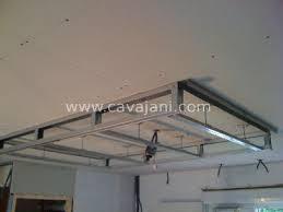 faux plafond placo design eclairage indirect salon avec un design