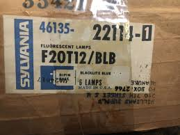 sylvania f20t12 blb fluorescent l black light blue bulb