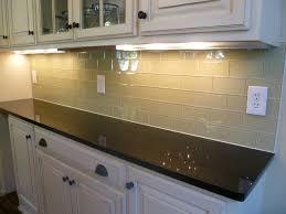 glass subway tile kitchen backsplash contemporary kitchen