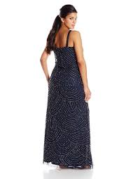 adrianna papell women u0027s plus size long beaded gown at amazon