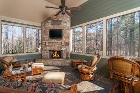 four seasons sunrooms porch rustic with brown floor tile ceiling
