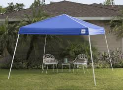 EZ UP Swift 12x12 Pop Up Canopy Slant Leg Instant Shelter