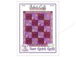 Fabric Cafe Sew Quick 3 Yard Quilt Pattern CreateForLess