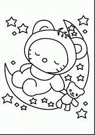 Fabulous Baby Hello Kitty Coloring Pages With Color And Colouring