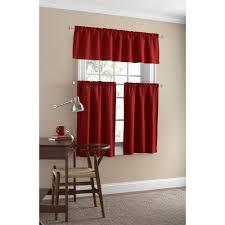 Mainstays Patio Set Red by Mainstays Microfiber Tier Curtain Set Walmart Com