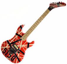 Vintage 80s Pre Copyright Kramer Baretta With Custom EVH 5150 Van Halen Paint Job
