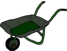 wheelbarrow garden clipart