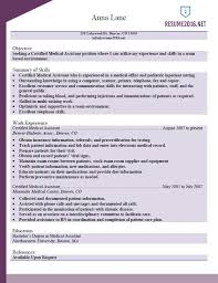 Professional Medical Assistant Resume Examples