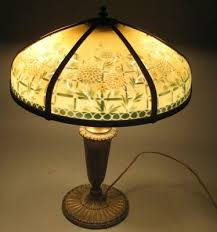 Ebay Antique Lamps Vintage by 14 Best Reverse Painted Lamps Images On Pinterest Painted Lamp