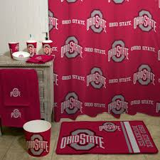 Round Red Bathroom Rug by Ncaa Ohio State University Decorative Bath Collection Shower