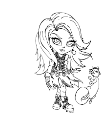Elegant Monster High Baby Coloring Pages 58 On Line Drawings With